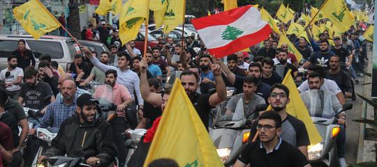 proteste libano beirut hezbollah