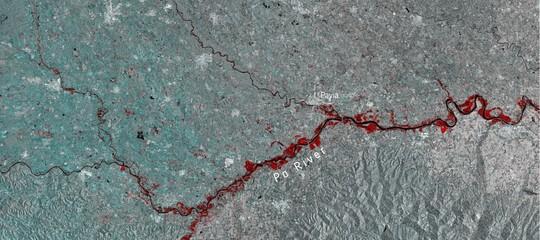 piena po immagini satellite