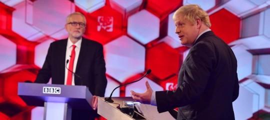 corbyn johnson scontro tv elezioni gb