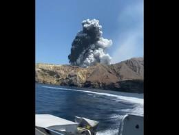 L'eruzione del Vulcano in Nuova Zelanda
