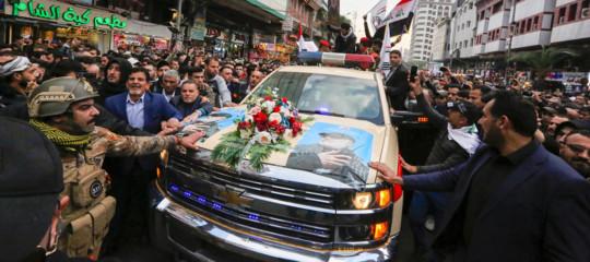 "esequie funerali Soleimani usa raid ""morte all'America"""