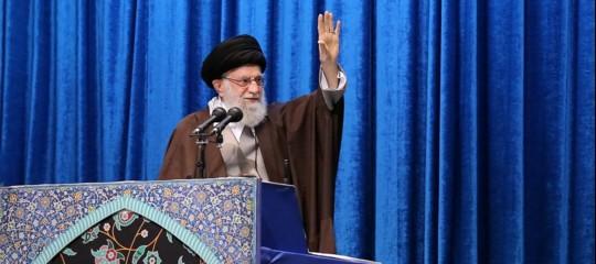 Iran discorsoKhamenei contro Usa Ue