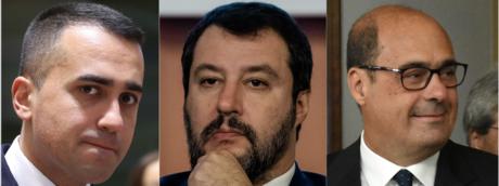 Luigi Di Maio, Matteo Salvini, Nicola Zingaretti