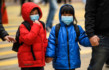 Coronavirusbambina cinese scuola