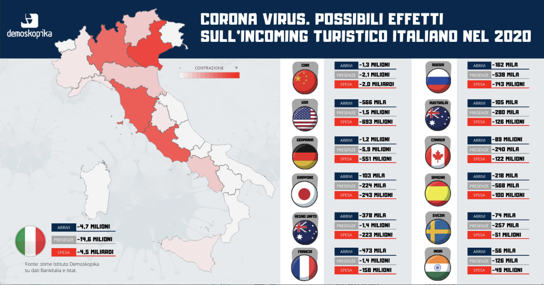 Cartina Dell Italia Turistica.L Impatto Del Coronavirus Sul Turismo Italiano La Mappa Regione Per Regione