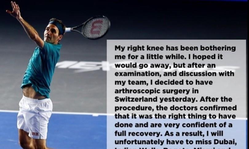 Federeroperato salta Roland Garros