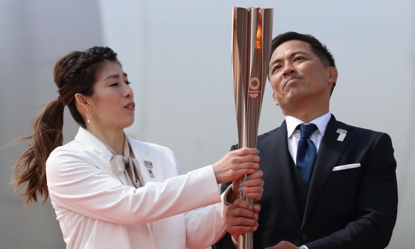 La fiamma Olimpica di Tokyo 2020 è arrivata in Giappone