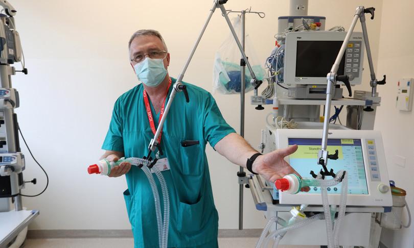 Coronavirus ventilatori S.Orsola Bologna