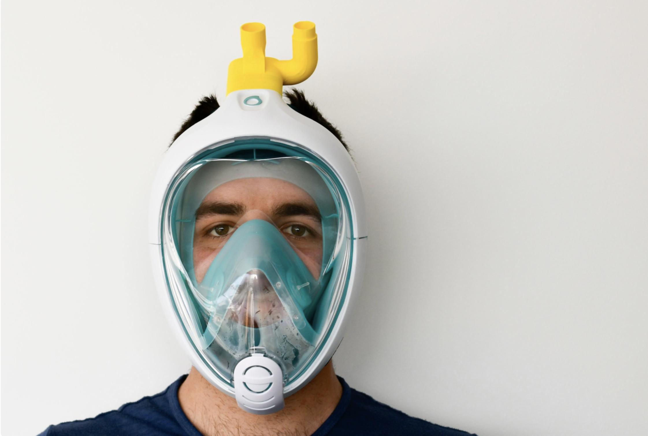 Un prototipo di maschera da sub