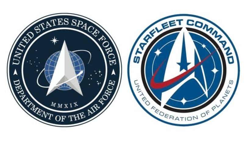 stemma forze spaziali usa star trek