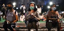 Le commemorazioni di piazza Tienanmen a Hong Kong