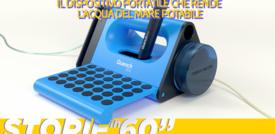 Il dispositivo portatile che rende l'acqua del mare potabile