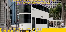 Il tram a guida autonoma progettato per il distanziamento sociale