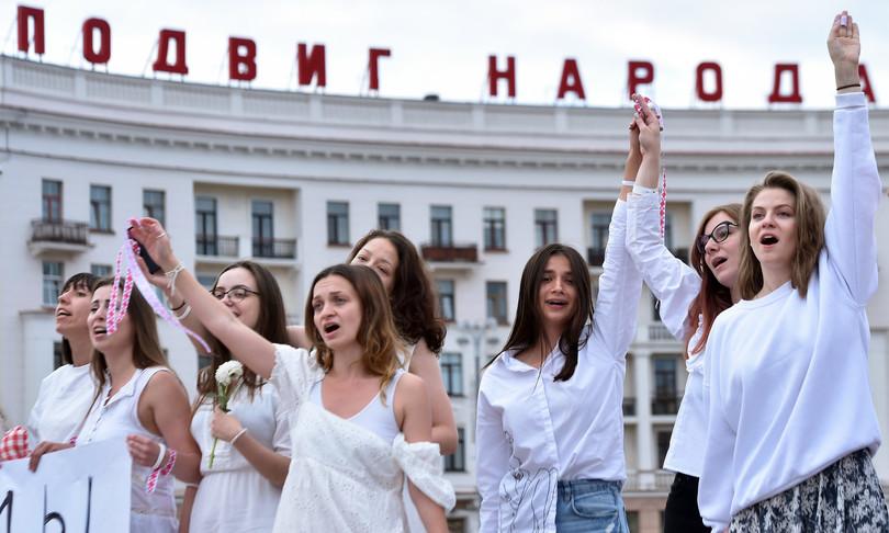 scioperi catene umane Bielorussia controLukashenko
