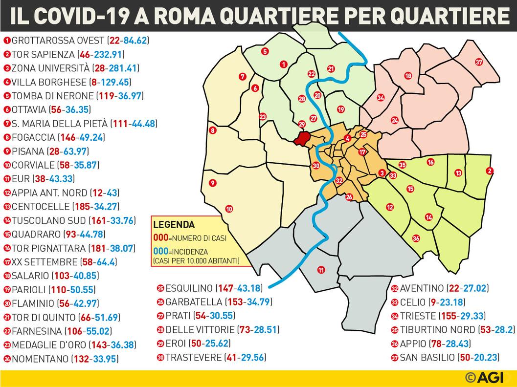 Quartieri Roma Cartina.Quali Sono Le Zone Di Roma Piu Colpite Dal Covid