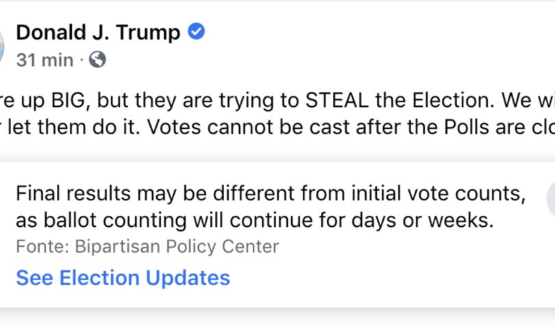 twitter facebook trump post