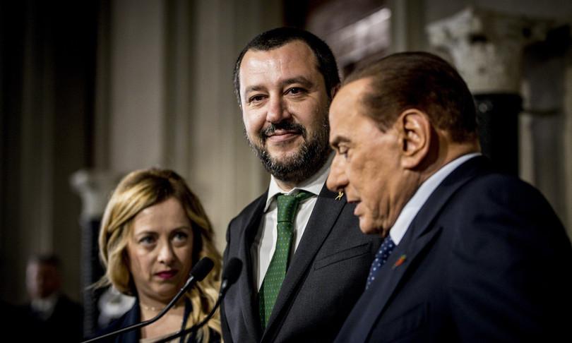 Salvini Berlusconi FI inciucio Lega Mediaset