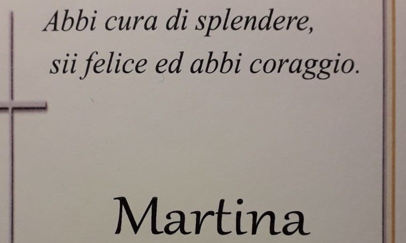 Covid funerali Martina Luzzara