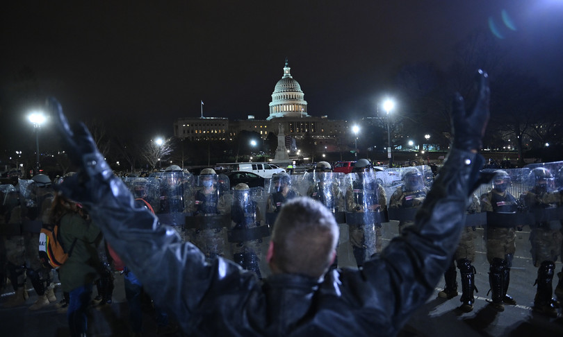 guerra incivile americana proteste capitol hill