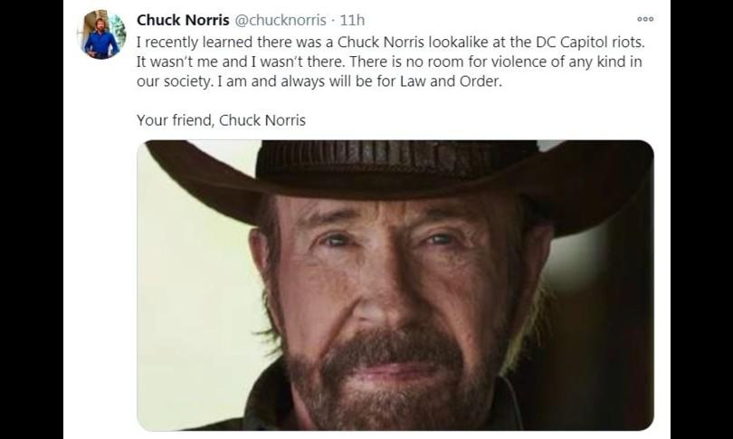 Chuck Norris smentisce non ero io a Capitol Hill ma un sosia