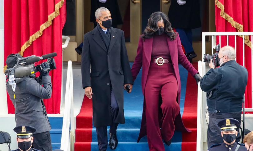 cappotto MichelleObama insediamentoBidensomigliaKidman TheUndoing