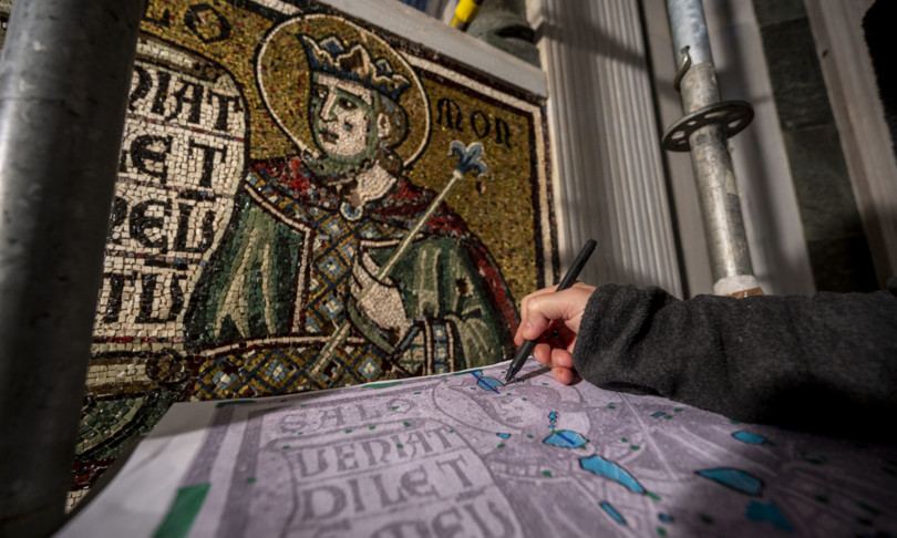 firenze tornano a risplendere mosaici trecenteschi battistero