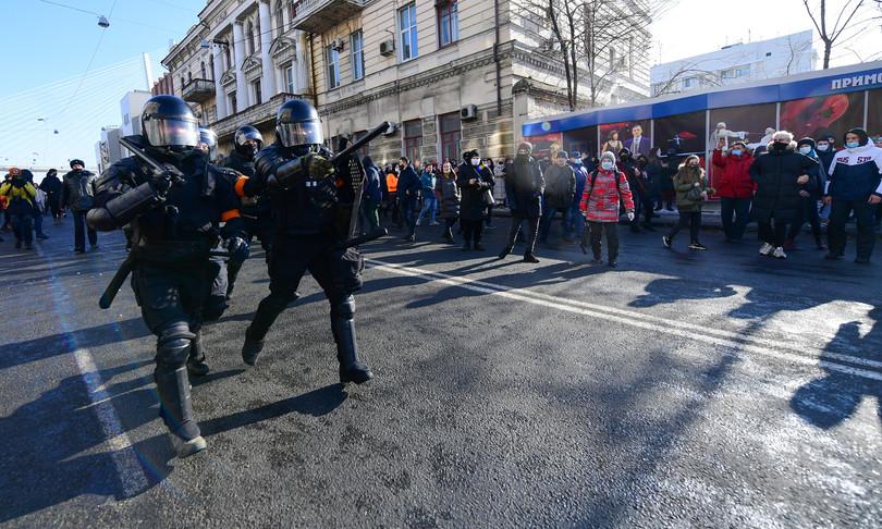 arresti manifestazioni russia liberazione navalny