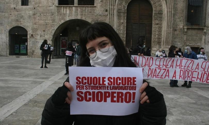 protesta studentilezioni in presenza