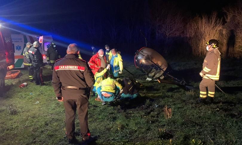 elicotteroprecipita casertano muore donna