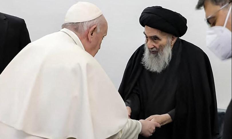 papa francesco iraq chiude era teocon
