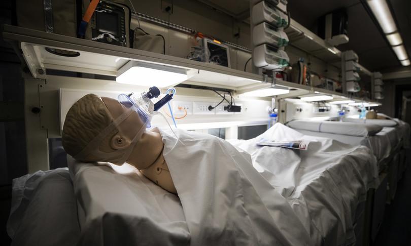 treno sanitario per spostare pazienti gravi