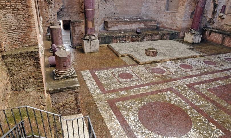 ripartono scavi tempio di venere al foro di cesare