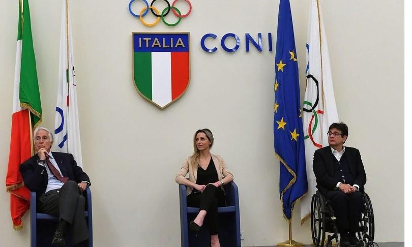 olimpiadi 2026 futura milano cortina malago vezzali compagnoni logo