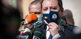 """Salvini: """"Via Speranza? Se vede solo rosso sì"""""""