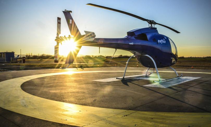 elicottero con paracadute balistico made in italy