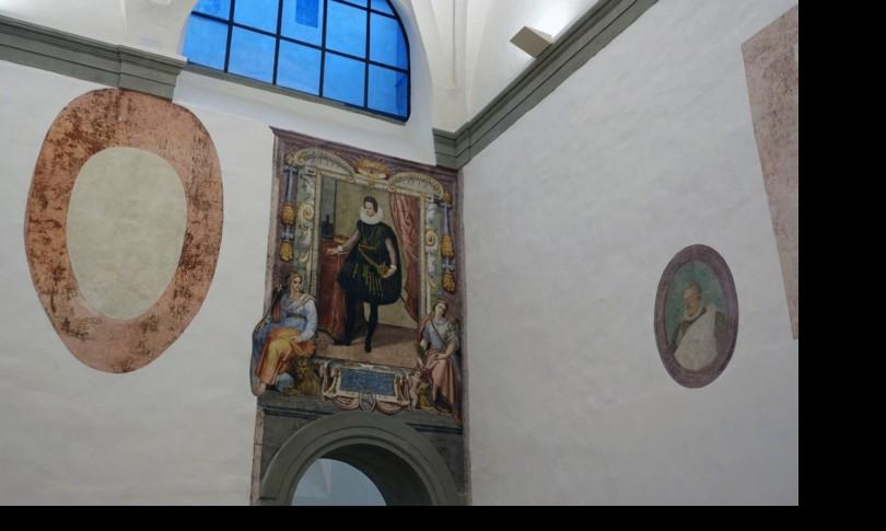 Uffizi lavori riemersi affreschi