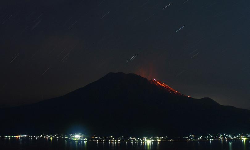 allerta giappone eruzione vulcano sakurajima
