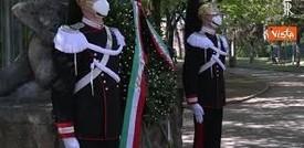 25 aprile, Mattarella depone una corona al Quadraro