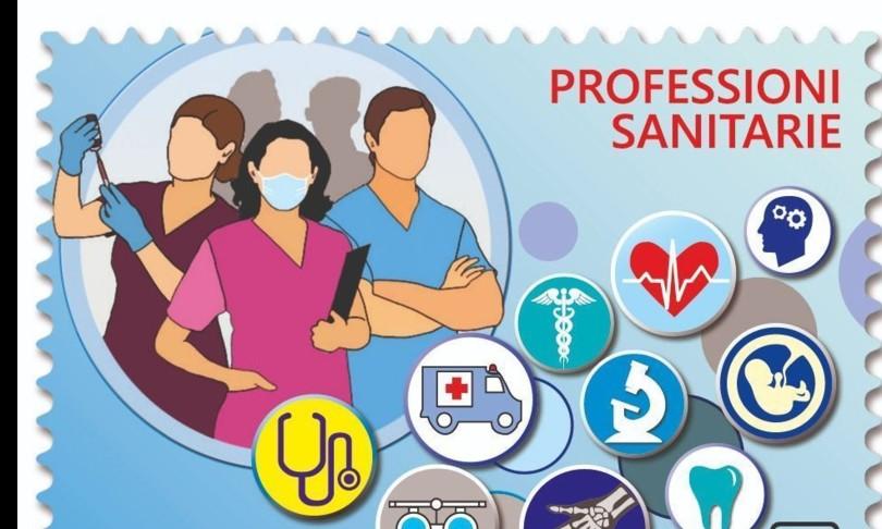 Covidfrancobollo dedicato professioni socio sanitarie