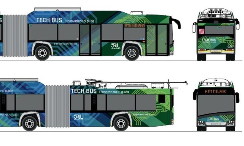 Milano Tech Bus connesso guida autonoma