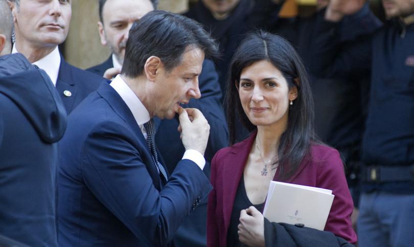 endorsement Conte Virginia Raggi sfidaGualtieriCampidoglio