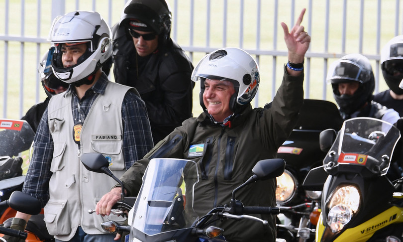 BrasileBolsonaro guida parata motociclisti Brasilia