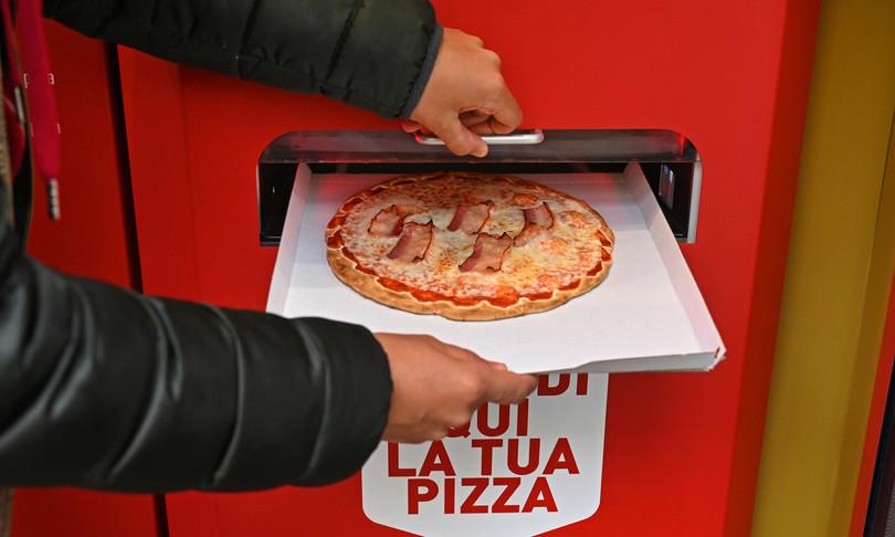 distributore di pizza calda mr go roma