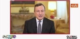 Il messaggio di Draghi al concerto Vax Live: