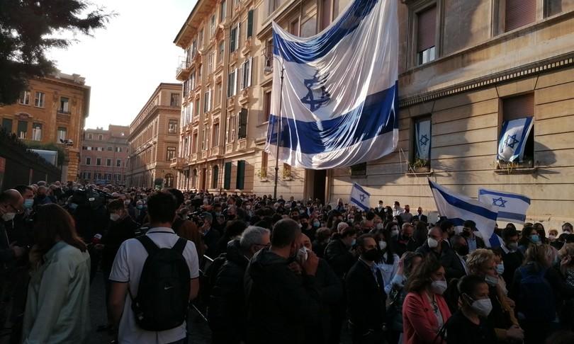 manifestazione israele romaghetto