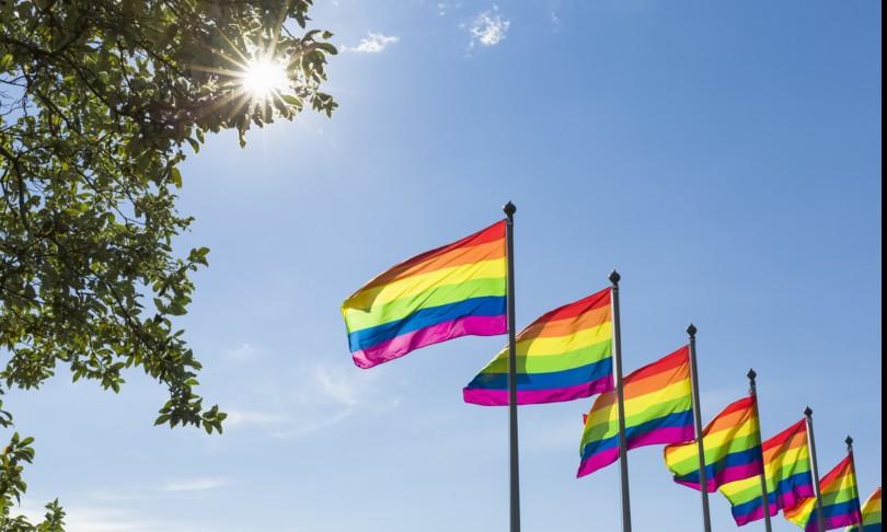 Giornata omofobia bandiere arcobaleno Italia