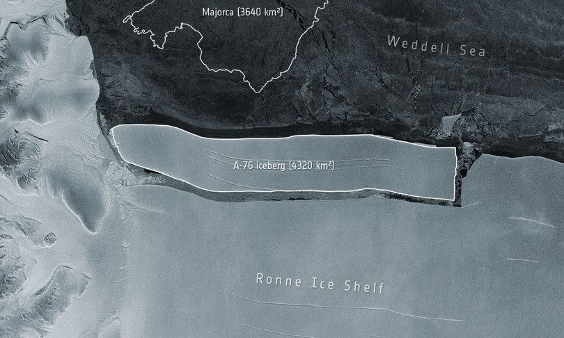 Il più grande iceberg del mondo si è staccato in Antartide