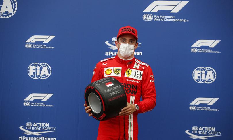 GP Monaco Ferrari poleLeclerc