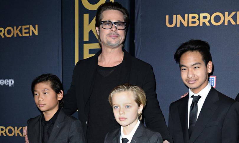 Brad Pitt custodia congiunta provvisoria figli