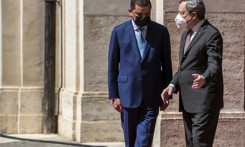 Draghi Italia a fianco Libia transizione energia